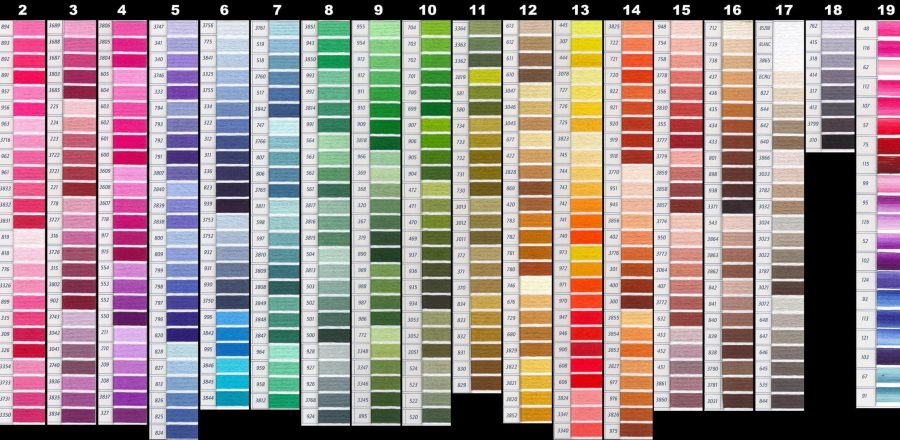 Pantone color swatches in all colors