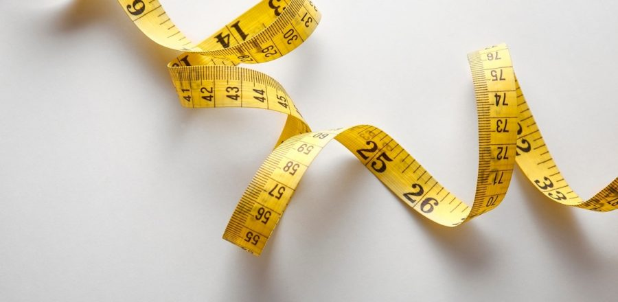 a flexible tape measure