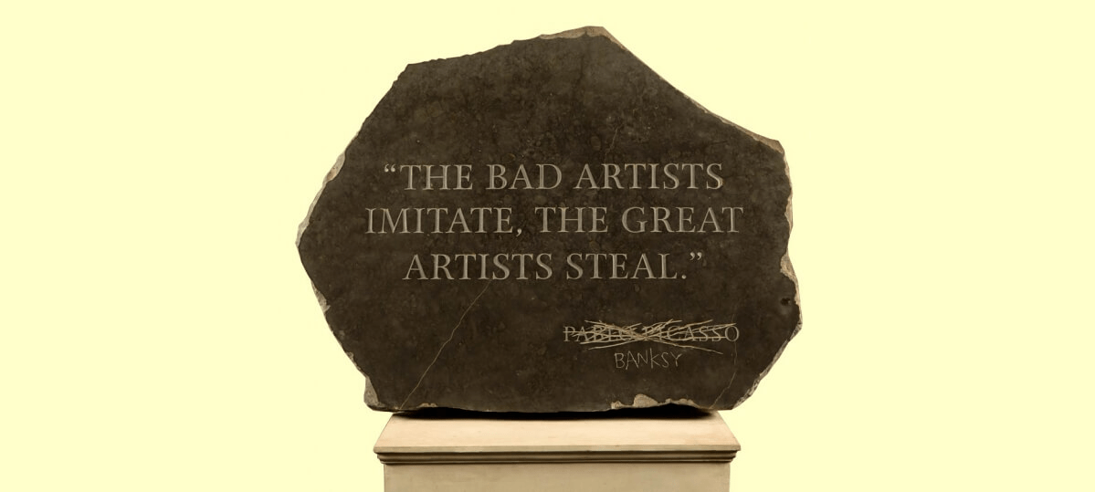 A plaque that says