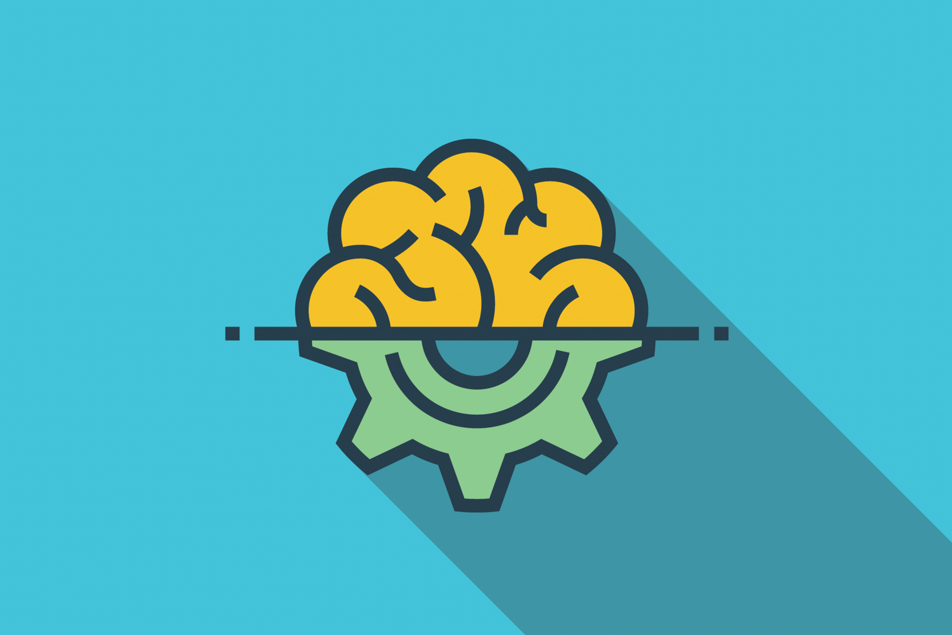 image of brain and cog
