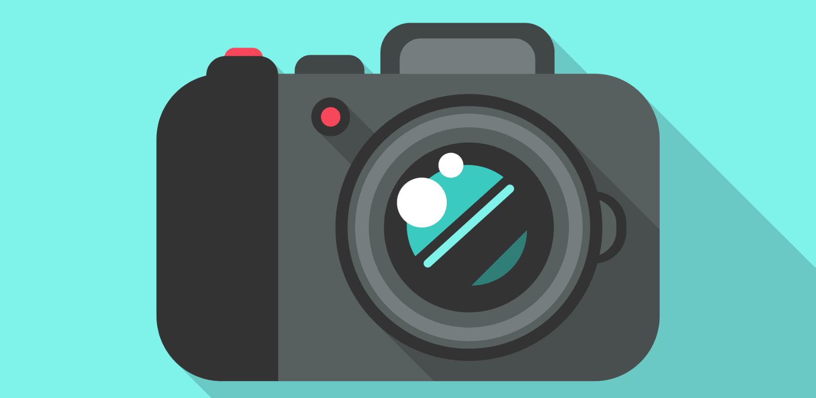 a handheld camera