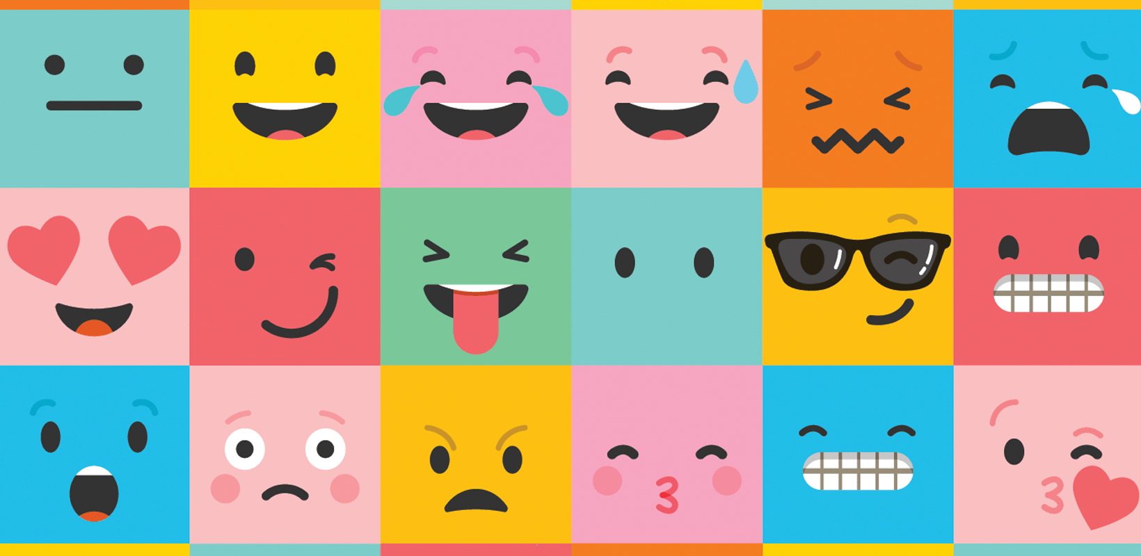 emoticons with different reactions to storytelling