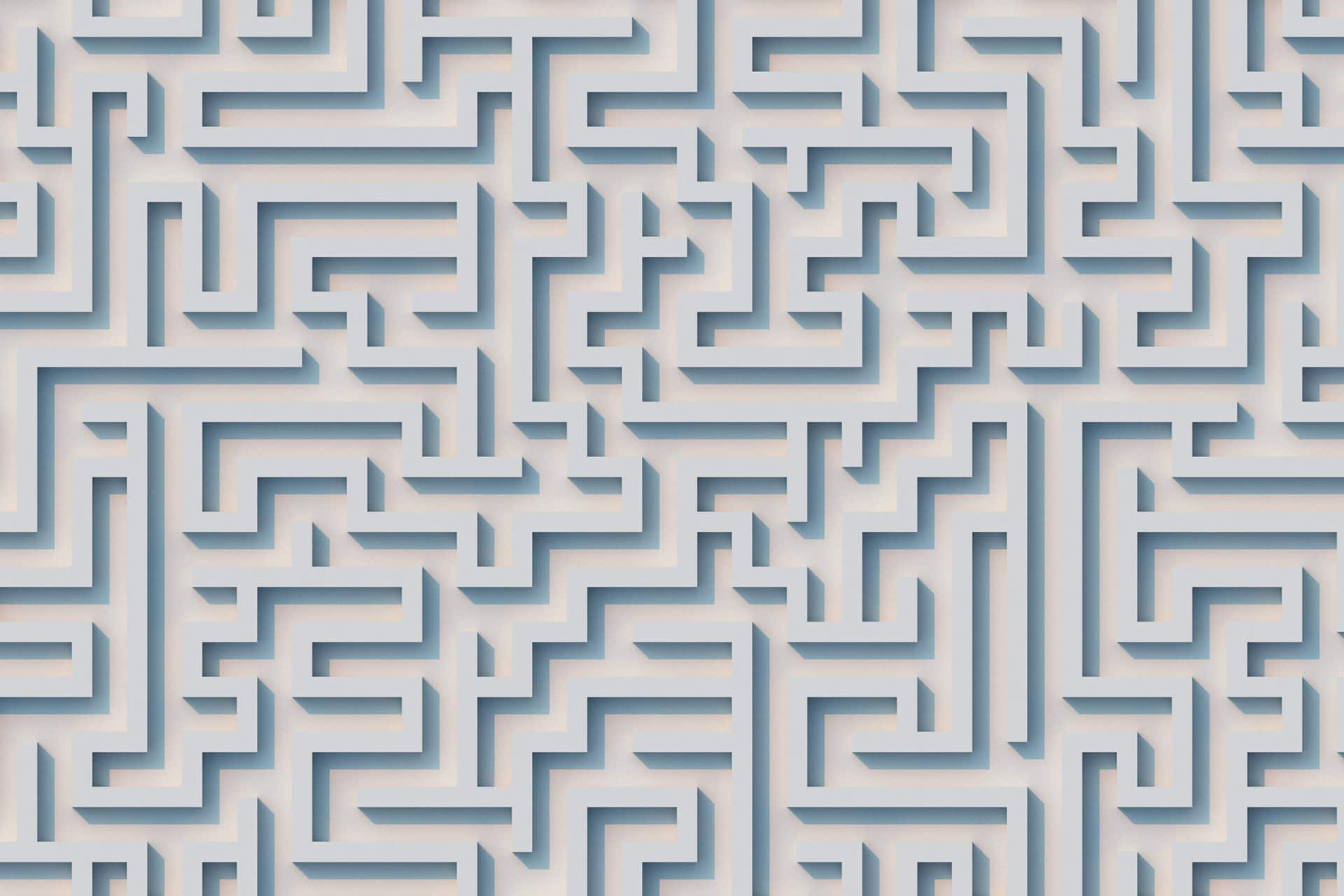 top view of a maze