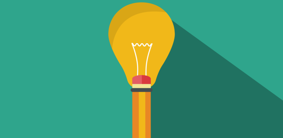visual storytelling - image of pen with lightbulb