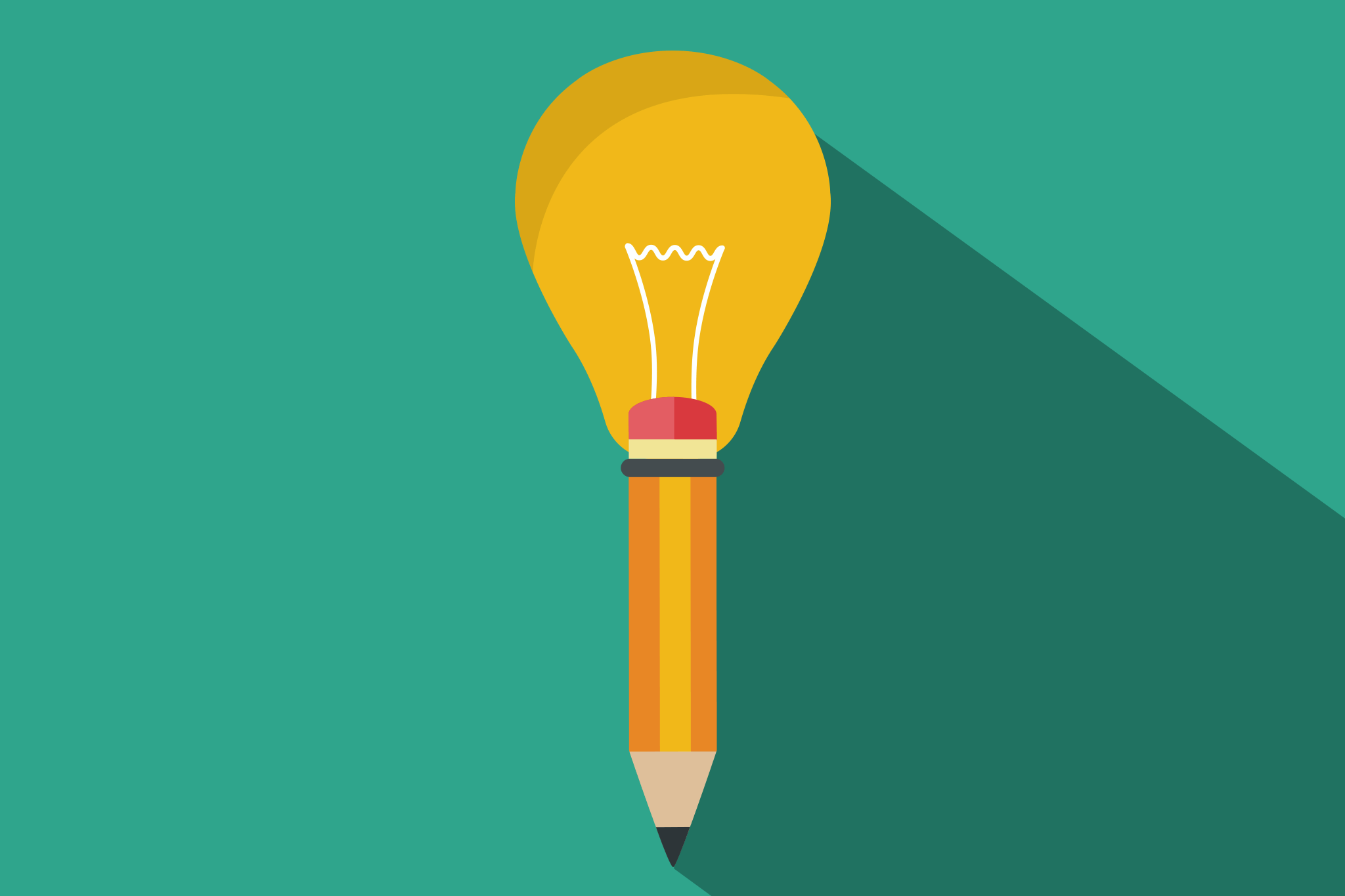 visual storytelling - image of pen with lightbulb