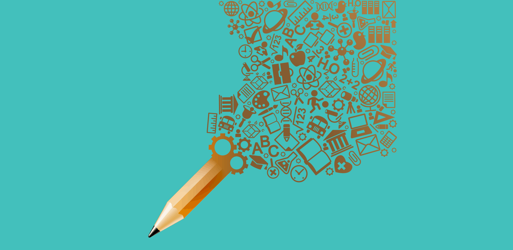 How to use data visualization - image of a pencil powered by information icons