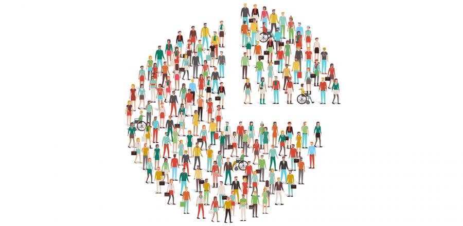 nonprofit data culture - pie chart people