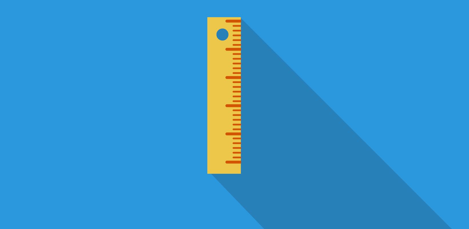 ruler - measuring key performance indicators