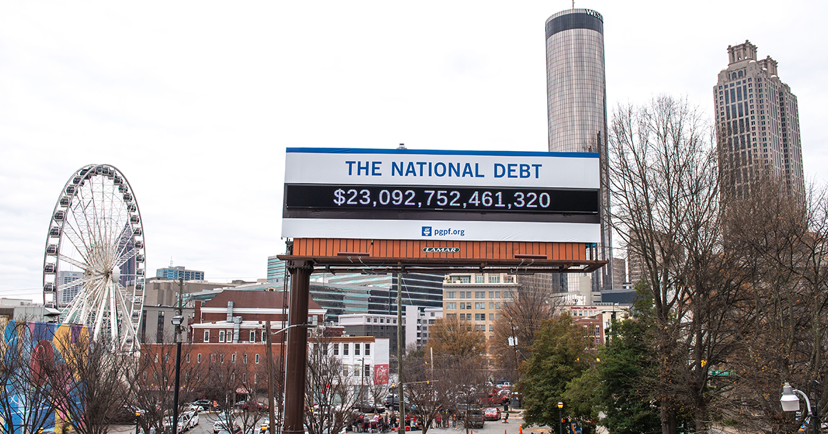 debt billboard Atlanta