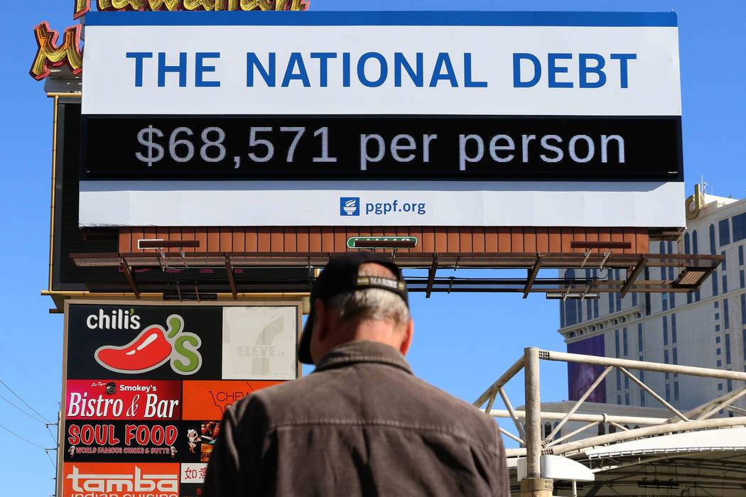 Las Vegas debt clock billboard