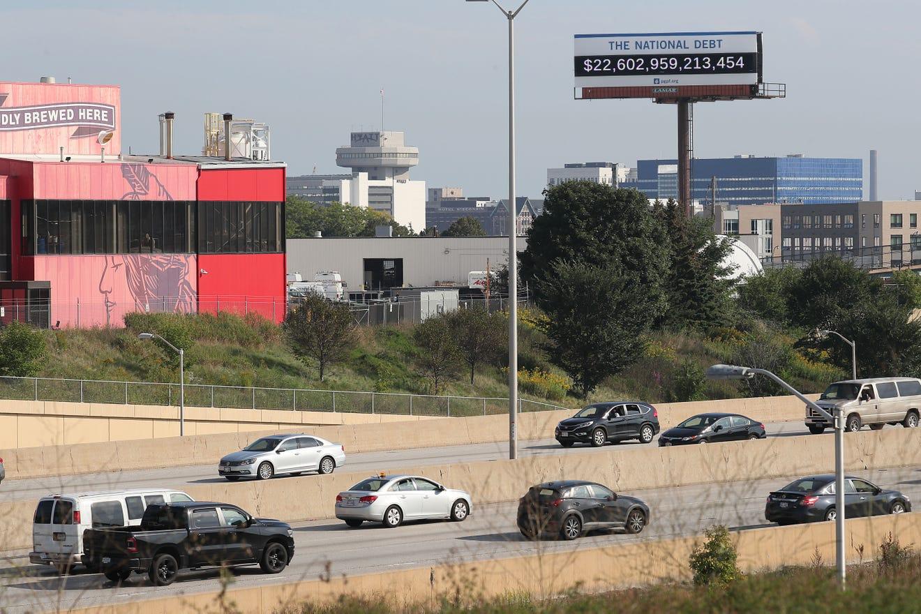 Milwaukee debt clock billboard