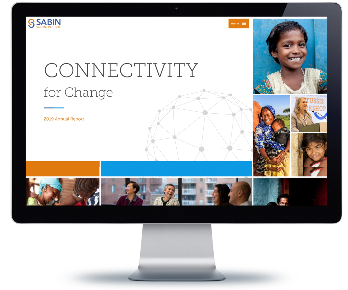 Sabin Vaccine Institue 2019 impact report home page